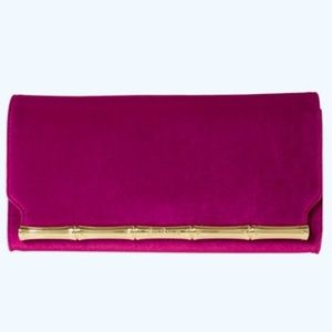 Lilly Pulitzer Bamboo Clutch Blackberry NWT!